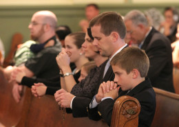 Family in prayer